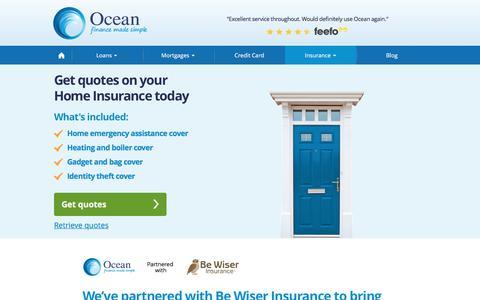 Home Insurance | Ocean Finance®