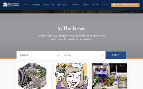 Screenshot of Press Page smdc.com - SMDC - captured June 17, 2019