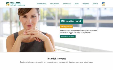 Screenshot of Home Page wta-bv.nl - Willems technisch adviesbureau | Home - captured Oct. 7, 2014