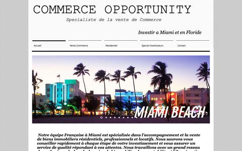 Screenshot of Home Page commerce-opportunity.com - Commerce A Vendre | United States | Commerce Opportunity - captured Oct. 29, 2018