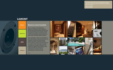 Screenshot of Home Page lamontconsultants.co.uk - Lamont Consultants - Home or Office Communications and Audio Visual systems - Home Page - captured Sept. 27, 2014