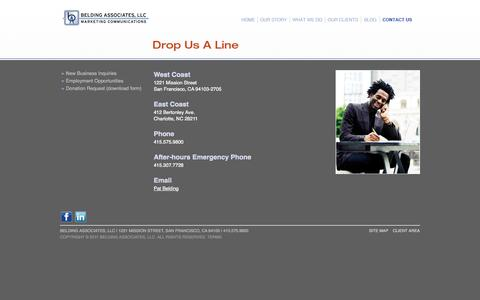 Screenshot of Contact Page belding.com - Belding Associates - captured Oct. 5, 2014