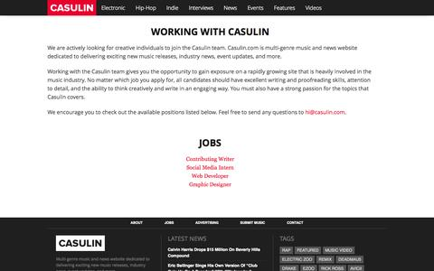 Screenshot of Jobs Page casulin.com - Casulin - Jobs - captured Sept. 29, 2014