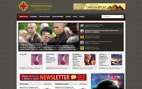 Screenshot of Home Page sgi.org.br - Sociedade Gnóstica Internacional - captured Oct. 9, 2014