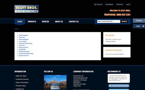 Screenshot of Services Page scottbros.com - Services - Scott Bros - captured Dec. 22, 2015