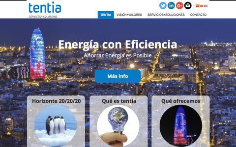 Screenshot of Home Page tentia.eu - Tentia Empresa Eficiencia Energética Barcelona - captured Nov. 7, 2017