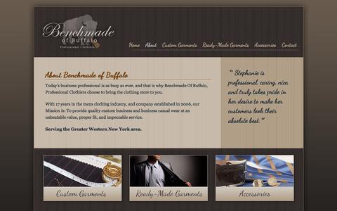 Screenshot of About Page benchmadeofbuffalo.com - Benchmade of Buffalo                         » About - captured Jan. 1, 2016