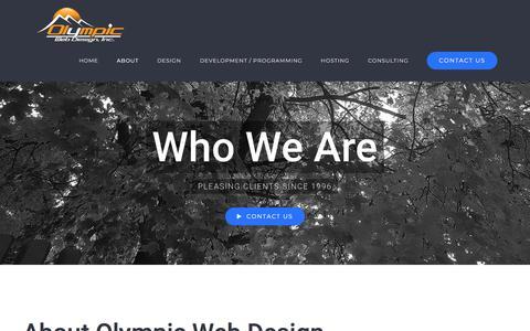 Screenshot of About Page olympicwebdesign.com - About Olympic Web Design, Inc. - Spokane, Washington - captured Jan. 5, 2018