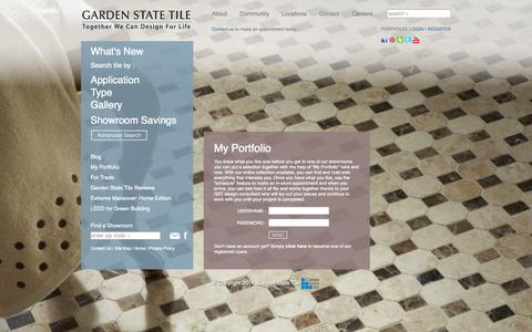 Screenshot of Login Page gstile.com - My Portfolio - Login - Garden State Tile - captured Sept. 24, 2014