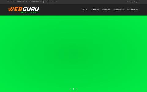 Screenshot of Home Page webgurusolution.net - WEBGURU SOLUTION - captured Nov. 29, 2016