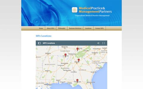 Screenshot of Locations Page mp2inc.org - MP2  |  Locations - captured Feb. 4, 2016