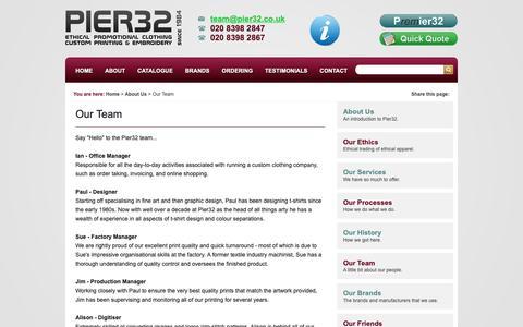 Screenshot of Team Page pier32.co.uk - The Pier32 Team - captured Nov. 10, 2018