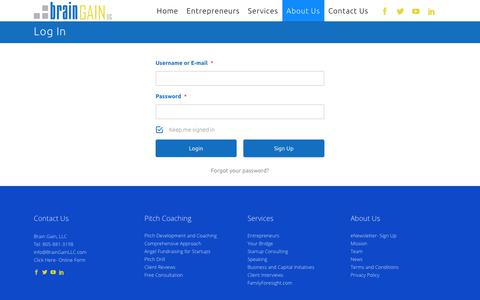 Screenshot of Login Page braingainllc.com - BrainGainLLC |   Log In - captured Aug. 3, 2018