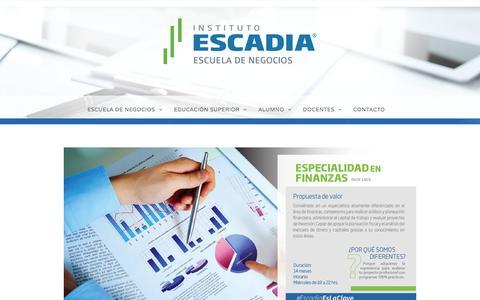 Especialidad en Finanzas –  Escadia