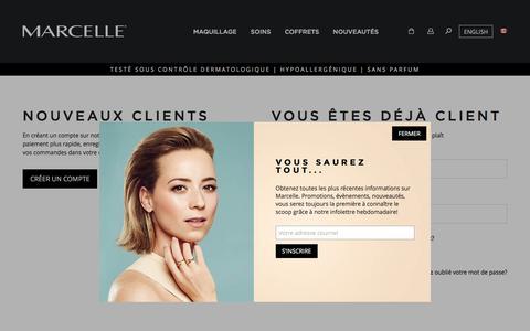 Screenshot of Login Page marcelle.com - Identifiant client  | Marcelle - captured Nov. 14, 2016