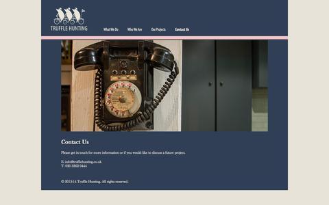 Screenshot of Contact Page trufflehunting.co.uk - Contact Us | Truffle Hunting - captured Oct. 9, 2014