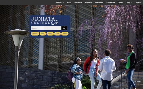 Screenshot of Home Page juniata.edu - Juniata   Earning One of the Best Rankings Among U.S. Liberal Arts Colleges - captured Oct. 20, 2015