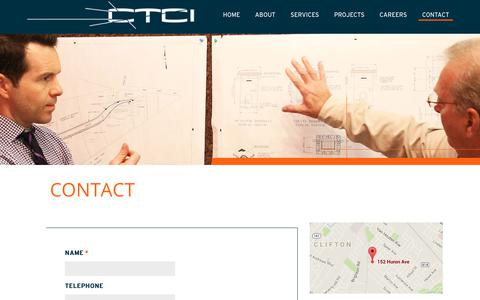 Screenshot of Contact Page ctciwiring.com - Contact | CTCI Technology - captured Aug. 15, 2017