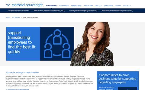 career transition services | Randstad Sourceright
