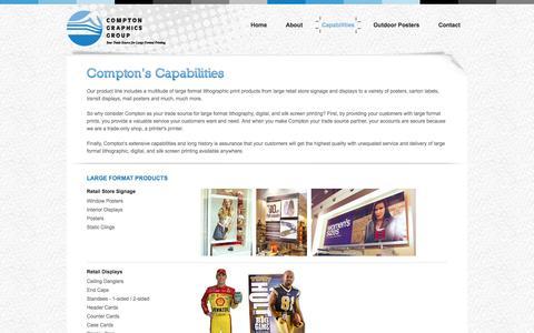 Screenshot of Maps & Directions Page comptontradegraphics.com - Capabilities « Compton Graphics Group « Trade Print Group - captured Oct. 2, 2014