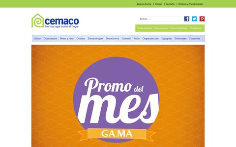 Screenshot of Home Page cemaco.co.cr - Cemaco Costa Rica - captured Oct. 2, 2014