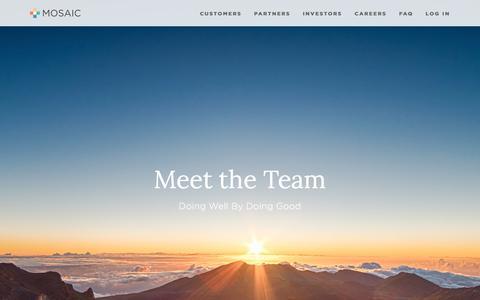 Meet the Team — Mosaic