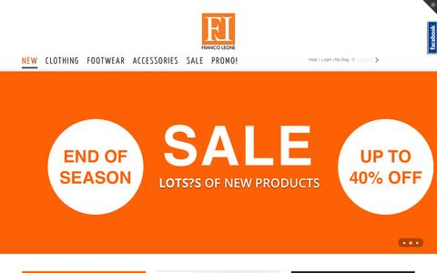 Screenshot of Home Page francoleone.com - Franco Leone Online Shopping India: Clothing, Jackets, Tees, Shoes, Accessories, Bags, More at Franco Leone - captured Jan. 18, 2016