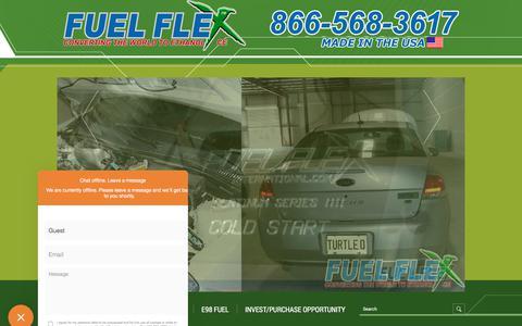 Screenshot of Support Page fuelflexinternational.com - E85 conversion kits - e85 kits - ALCOHOL FUEL CONVERSION KITS - FLEX FUEL CONVERSIONS - Fuel Flex International, Full Flex International - Full Flex Gold and ECO Flex Platinum USA Distributor flex fuel - Pulstar pulse Spark Plugs - FLEX COMBUSTIBLE - captured Sept. 2, 2018