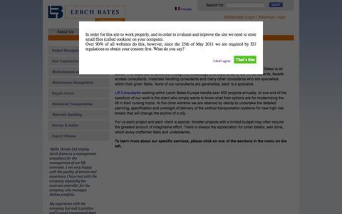 Screenshot of Services Page lerchbates.co.uk - Services | Lerch Bates Europe - captured Oct. 2, 2014