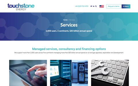Screenshot of Services Page touchstoneenergy.co.uk - Services | TouchstoneEnergy - captured Nov. 7, 2017