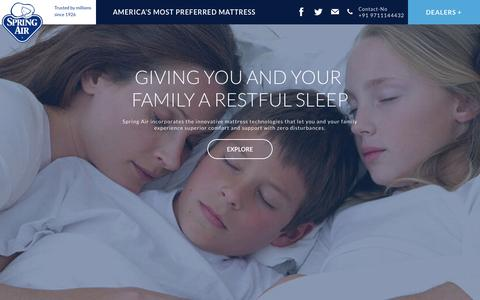 Screenshot of Home Page springair.in - Mattress in India   orthopedic mattress   Best mattress in India - captured Sept. 10, 2015