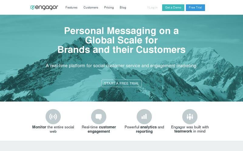 Screenshot Social Media Management and Analytics Tools for Business | Engagor