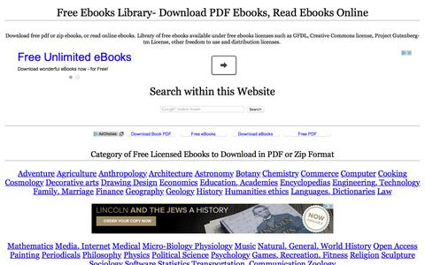 Screenshot of Home Page ebooksgo.org - Free Ebooks Library- Download PDF Ebooks, Read Ebooks Online - captured Sept. 11, 2016