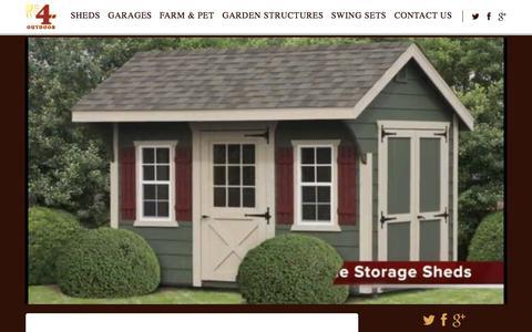 Screenshot of Blog 4-outdoor.com - 4-Outdoor – Storage Shed and Garage Builder - captured Aug. 14, 2015