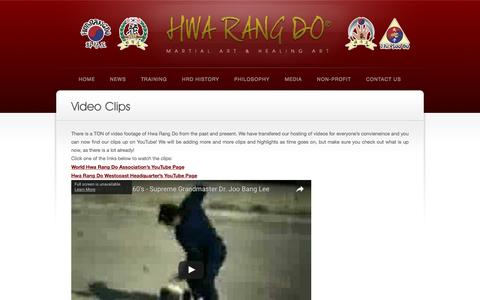 Screenshot of Press Page hwarangdo.com - Video Clips | World Hwa Rang Do® Association - captured Dec. 2, 2016