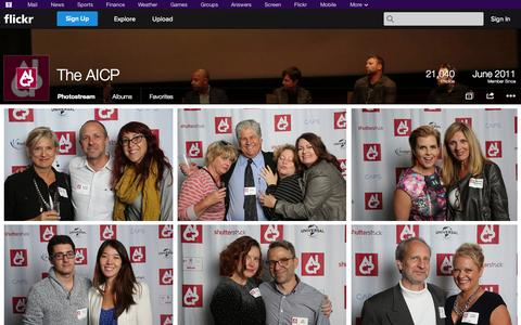 Screenshot of Flickr Page flickr.com - Flickr: The AICP's Photostream - captured Oct. 23, 2014