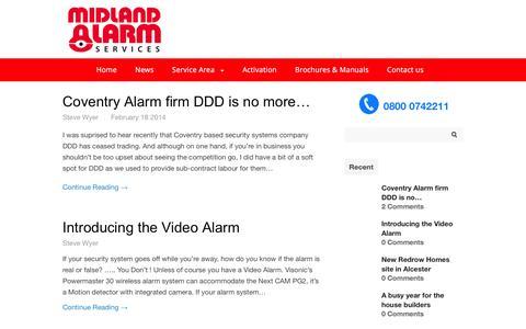 Screenshot of Press Page midlandalarm.co.uk - Midland Alarm Services — Midland Alarm Services - captured Feb. 13, 2016