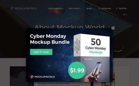 Screenshot of About Page mockupworld.co - About Mockup World | MockupWorld - captured Nov. 24, 2015