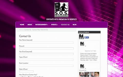 Screenshot of Contact Page sosentertainmentdj.com - Contact Us - Contact New York's #1 DJ | SOS Entertainment Djs - captured Oct. 3, 2014