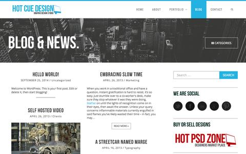 Screenshot of Blog hotcuedesign.com - Blog | hotcuedesign.com - captured Oct. 22, 2014