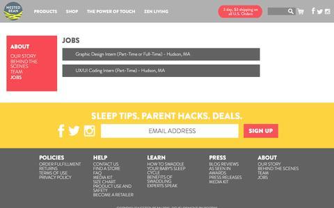 Screenshot of Jobs Page nestedbean.com - Jobs – Nested Bean - captured Feb. 14, 2016