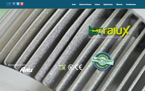 Screenshot of Home Page terralux.com.co - Terralux - P.B.X.: (571) 520 79 07 Bogotá - captured Oct. 7, 2014
