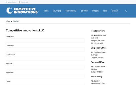 Screenshot of Contact Page cillc.com - Contact | Cillc.com - captured Aug. 20, 2019