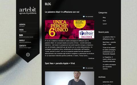 Screenshot of Blog artebit.it - Artebit – agenzia di comunicazione e web Catania   Blog Archives - Artebit - agenzia di comunicazione e web Catania - captured Sept. 30, 2014