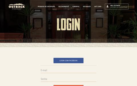 Screenshot of Login Page outback.com.br - login   Outback - captured Oct. 22, 2017