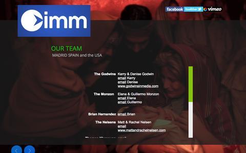 Screenshot of Team Page imm.edu - IMM OUR TEAM - captured Nov. 3, 2014