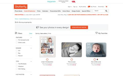 Birth Announcements & Baby Birth Announcement Cards | Shutterfly