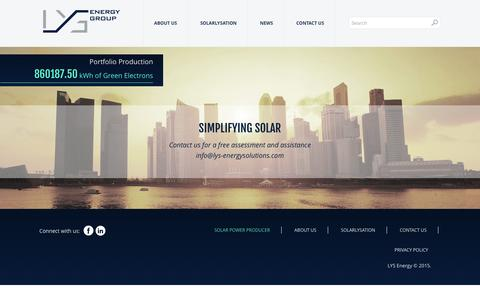 Screenshot of Home Page lysenergy.com - Solar Power Producer | LYS Energy Group - captured Jan. 23, 2016