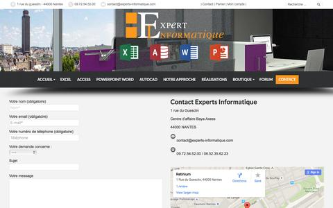 Screenshot of Contact Page experts-informatique.com - Contact - les Experts informatique proche de vous en France - captured April 7, 2016