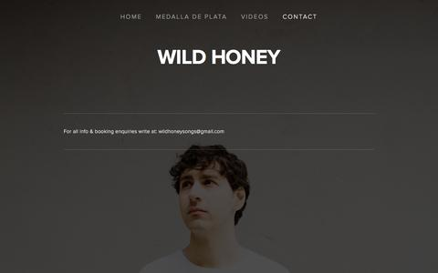 Screenshot of Contact Page thisiswildhoney.com - Contact — Wild Honey - captured March 17, 2016